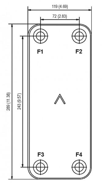 SWEP B10T plaatkoeler