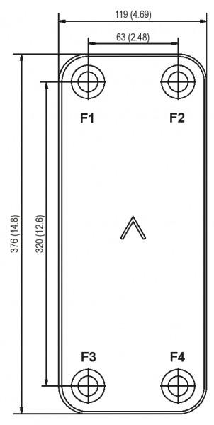 SWEP B16 plaat koeler