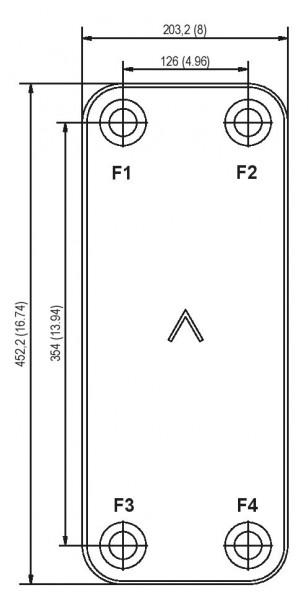 SWEP B185 plaat koeler