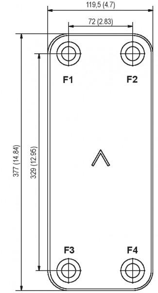 SWEP B18 plaat koeler