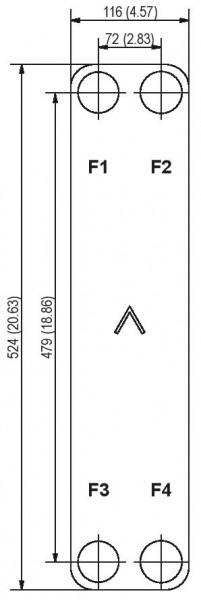 SWEP B25 plaat koeler