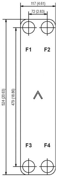 SWEP B25T Y-pressure plaat koeler