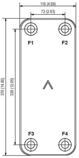 SWEP B26 plaat koeler