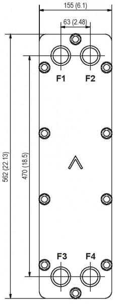 SWEP B28 H-pressure plaat koeler