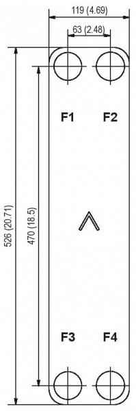 SWEP B28 plaat koeler