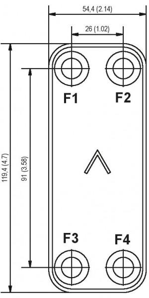 SWEP B3 plaat koeler