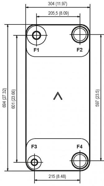 SWEP B400 plaat koeler