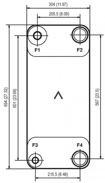 SWEP B400T plaat koeler