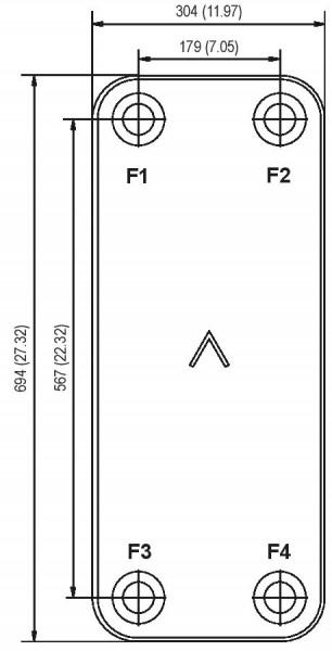 SWEP B427 plaat koeler