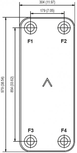 SWEP B439 plaat koeler